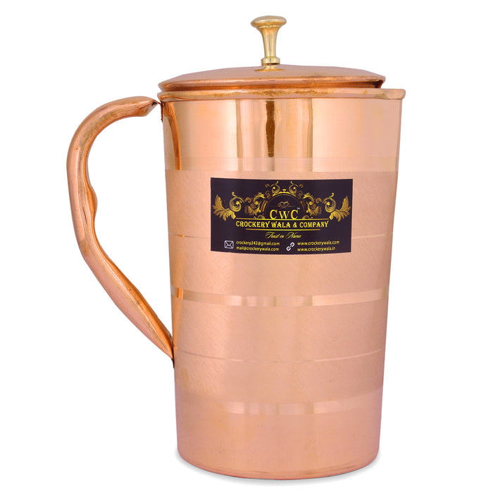 CROCKERY WALA AND COMPANY Copper Jug Luxury, 1600 ml