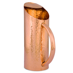 Crockery Wala And Company Copper Hammered Jug Pure Copper Water Jug Pitcher Jar For Serving & Drinking Water 1000 ML