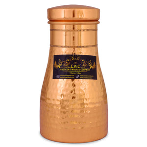 Crockery Wala And Company Bed Side Pure Copper Bottle/Jar 750 Ml - Crockery Wala And Company