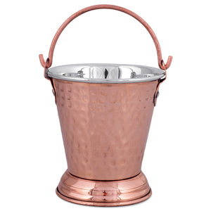Crockery Wala & Company Steel Copper Bucket Balti, for Serving Dishes, Kitchenware & Tableware
