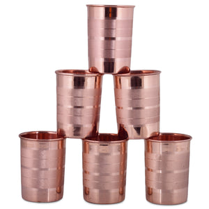 Crockery Wala & Company Pure Copper Luxury Glass 300ml