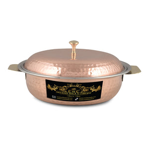 Crockery Wala And Company Copper Steel Donga Handi Royal Indian Serving Donga Tableware For Home & Restaurant