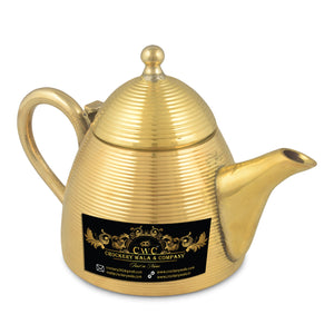 Crockery Wala And Company Brass Kettle For Serving Drink & Beverages Brass Tea Pot Kettle 700 ML