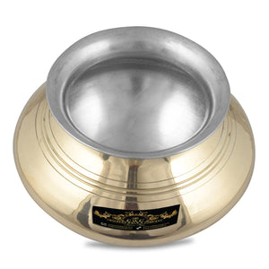 Crockery Wala And Company Brass Kalai Punjabi Handi Patili For Cooking & Serving Brass Dinnerware Kitchenware 1200 ML