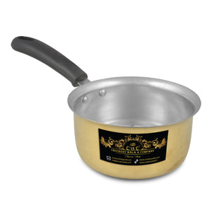 Crockery Wala And Company Brass Kalai Saucepan Saucepot For Cooking & Serving Brassware Dinnerware 1400 ML