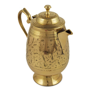 Crockery wala & company  Brass  Design Jug Pitcher with Lid New |1450 ML| for Storage & Serving Water |Home Décor Item