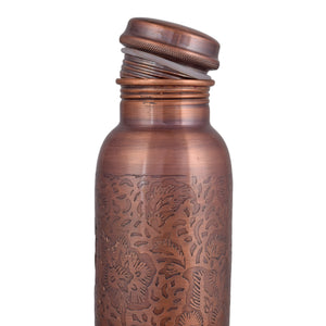 Crockery Wala And Company 1100 Ml Pure Copper Bottle Antique Finish - Crockery Wala And Company