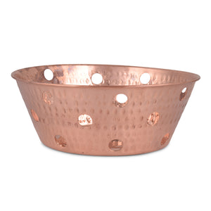 Crockery Wala And Company Copper Hammered Bread Basket Round Bread Proofing Proving Rattan Basket Serving Restaurant Ware Hotel Ware Home Ware