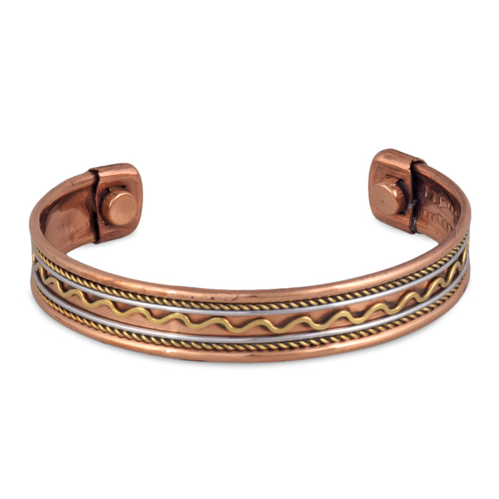 Copy of Crockery Wala & Company Copper Magnetic Bangle/Bracelet For Good Helath Free Size d2