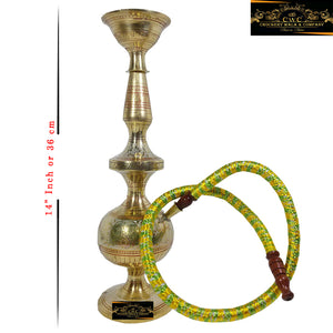 Crockery Wala And Company Pure Brass Hookah Brass Sheesha With Chilum and Pipe