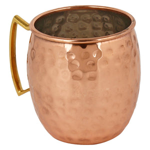 Crockery Wala And Company Copper Barrel Mug Handmade Copper Barrel Moscow Mule Mug 400 ML - Set Of 6