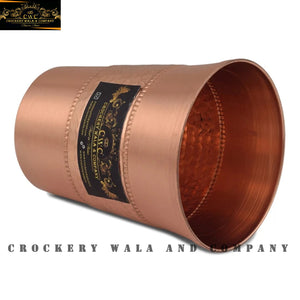 Crockery Wala And Company Copper Glass Tumbler 300 ML Glassware Pure Copper Glass Drinkware || Set Of 1