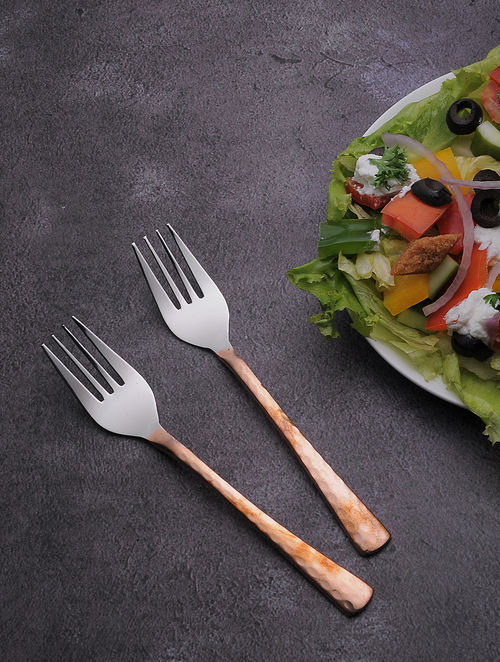 Copper Steel Dinner Fork