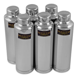 1100 ml Stainless Steel Water Bottle for Fridge Set of (6)