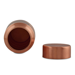 Crockery Wala And Company Pure Copper Bottle Flask Lacquer Coated Leakge Proof Jointless Bottle 1000 ML | 1 PCs
