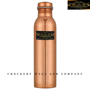 Crockery Wala And Company Pure Copper Water Jug Glass Bottle Set Combo Pure Copper Drinkware || 1 Jug, 1 Bottle, 2 Glass