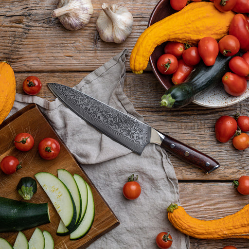 """8"""" Damascus Chef's Knife 3"""