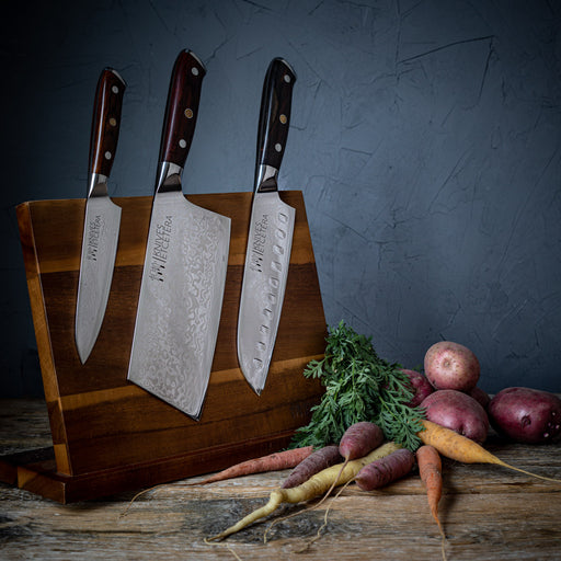 Acacia Wood Magnetic Knife Stand 4