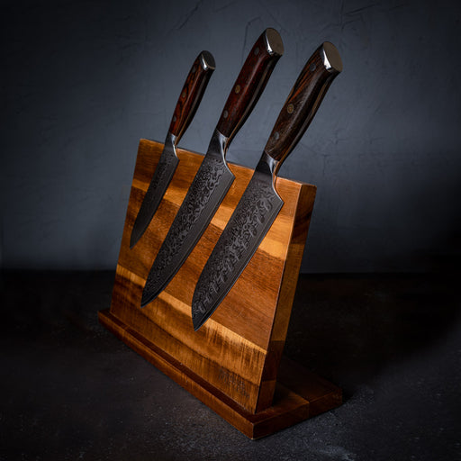 Acacia Wood Magnetic Knife Stand 3