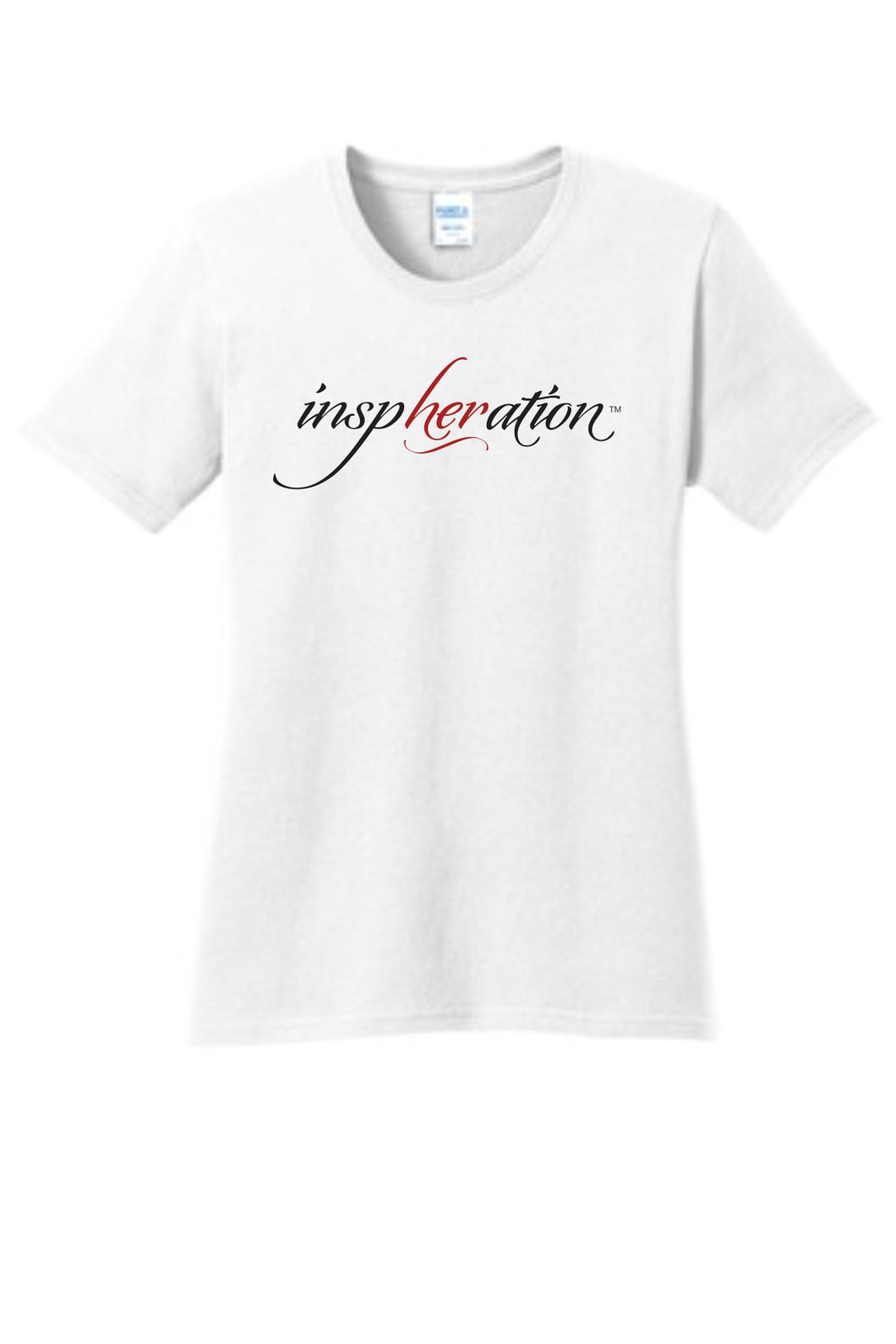 Women's White inspHERation™ Crew Neck, Short-Sleeve T-Shirt