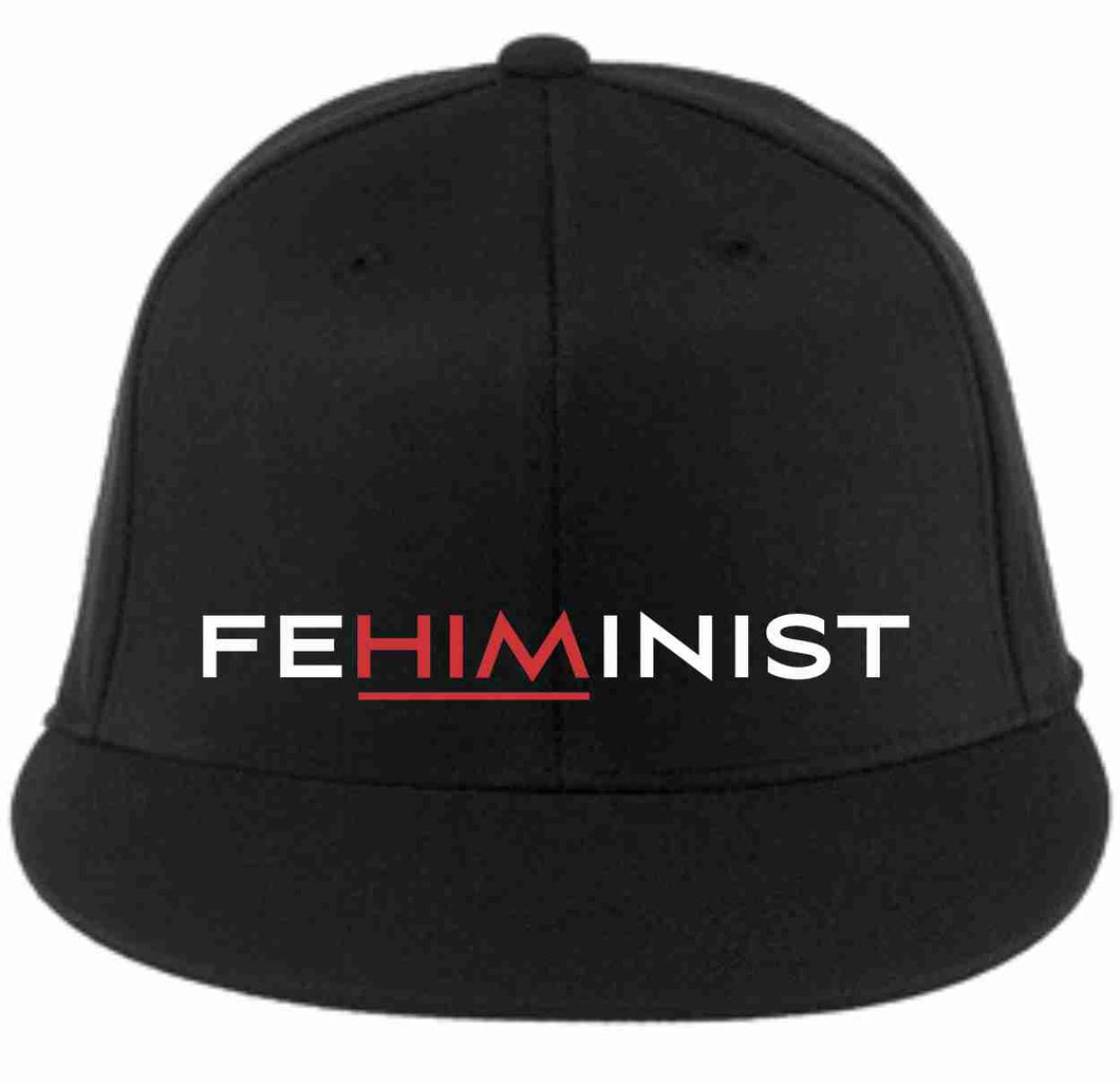 feHIMinist™ Embroidered Flexfit Flat Bill Fitted Baseball Hat