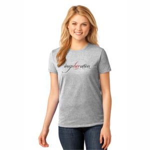 Women's Ash Gray inspHERation™ Crew Neck, Short-Sleeve T-Shirt