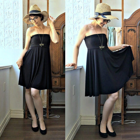Mod Circle Skirt/Dress BLACK