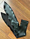 Sash Belt -- BLACK FAUX LEATHER