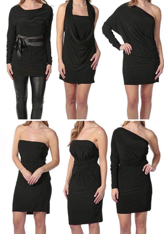 Zain Dress (6 styles in one dress!) -- BLACK