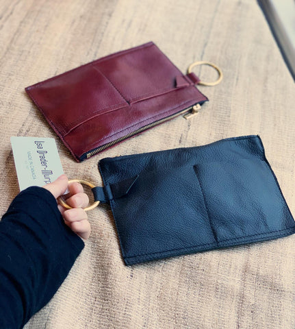 Genuine Leather Pocket Clutch