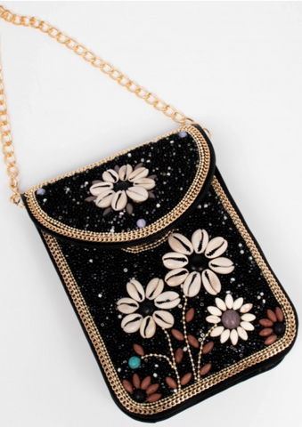 Beaded Mini-bag -- BLACK