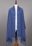 Cozy Cashmere Shawl -- DENIM