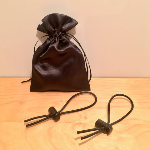 Bungee Ear-Loops/Toggles + Satin Mask Bag