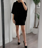 """Leanne"" Skirt/Dress/Shawl -- BLACK"