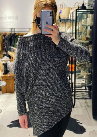 Asymmetric Sweater -- STARS