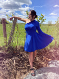 Mod Circle Skirt/Dress -- ROYAL
