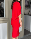 Asymmetric Dress -- RED