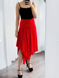 """Leanne"" Skirt/Dress/Shawl -- RED"