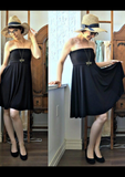 Mod Circle Skirt/Dress -- BLACK