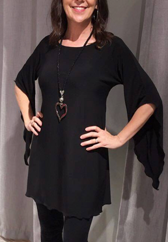 Fiona Mini Dress -- BLACK