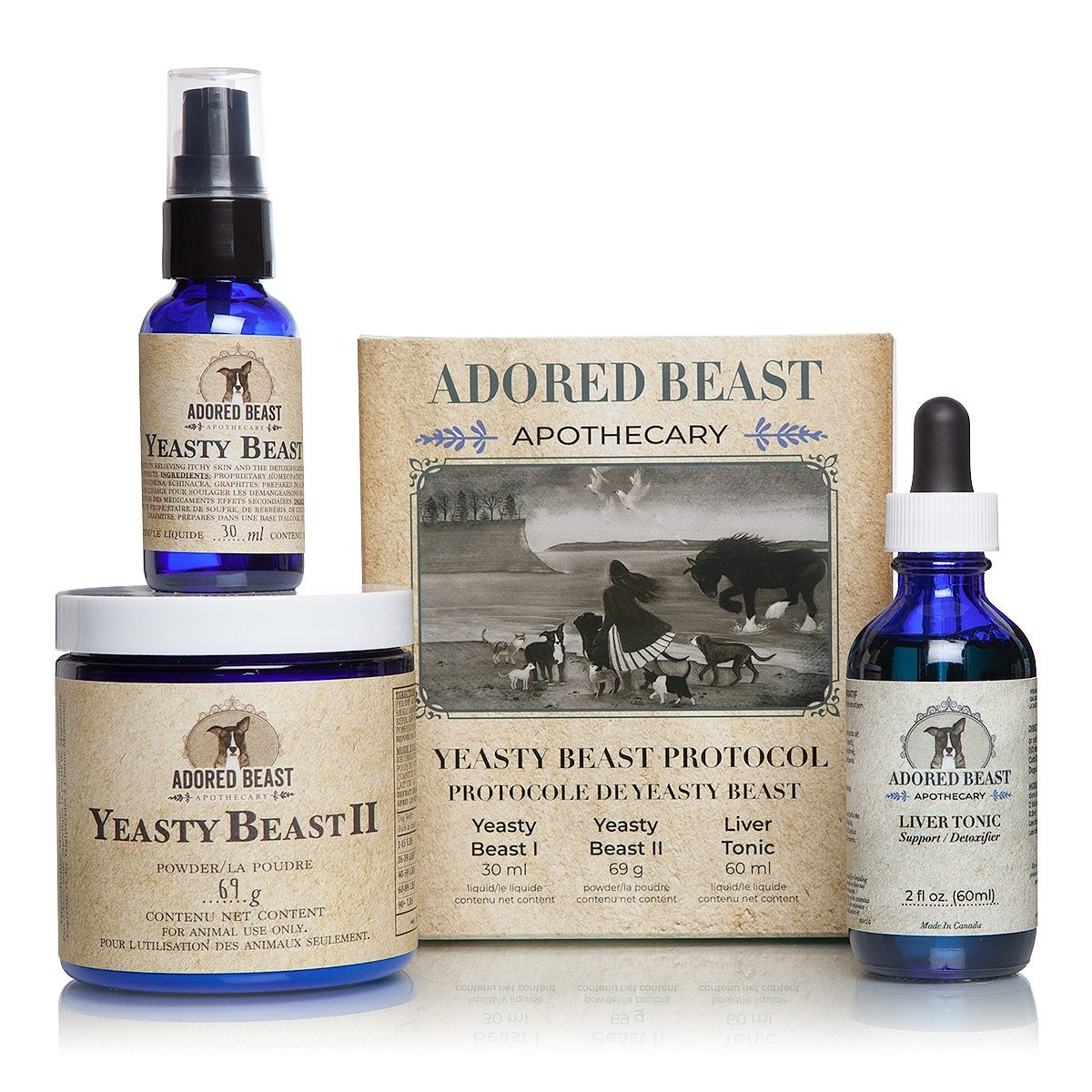 Yeasty Beast Protocol - 3 product kit - Adored Beast Apothecary