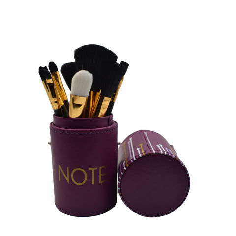 NOTE ROUND MAKEUP BRUSH KIT - 09 PIECE KIT