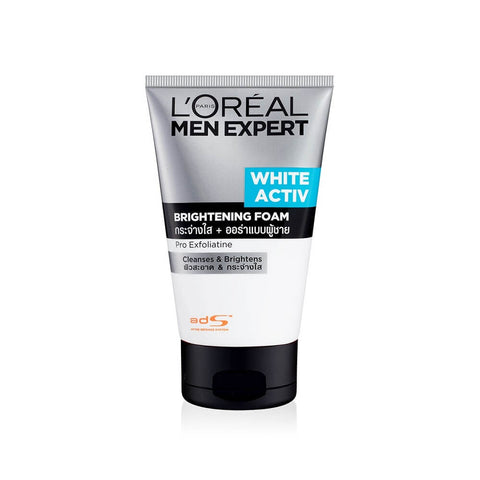 L'OREAL MEN EXPERT WHITE ACTIV SKIN BRIGHTENING FOAM 100ml