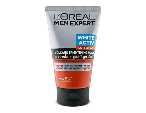 L'Oreal MEN EXPERT VOLCANO RED FOAM FACEWASH 100ML