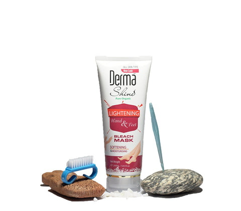 Derma Shine Hand and Feet Lightening Bleach Mask