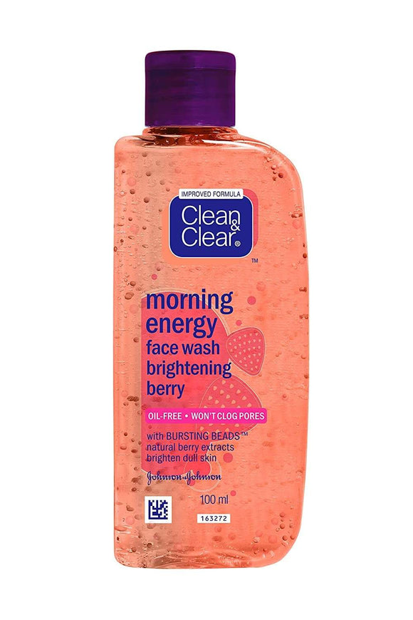 Clean and Clear Morning Energy Face Wash Brightening Berry - Lipcara