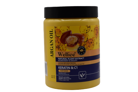 Wellice Hair Mask | Argan Oil | Natural & Healthy Hair Care Mask