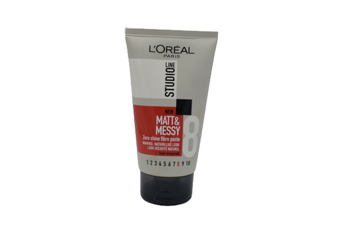 L'Oreal Line Studio 8 MATT & MESSY Zero Shine Fiber Paste 150mL