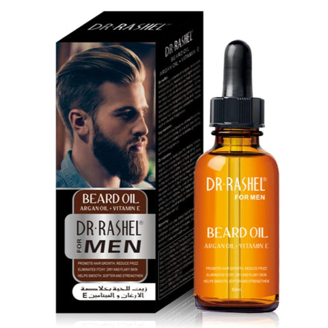 Dr Rashel Beard Oil With Argan Oil + Vitamin E For Men - Lipcara