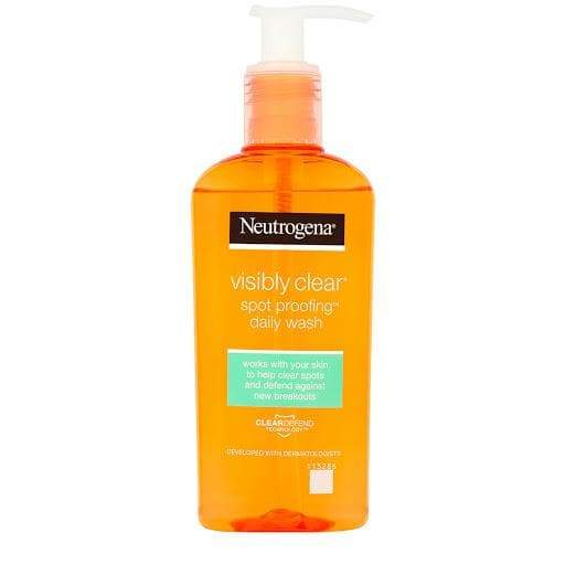 Neutrogena Visibly Clear, Oil Free Clear & Protect Daily Wash - Lipcara